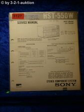 Sony Service Manual HST 550W Component System (#3127)