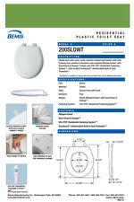Bemis 200Slowt-255 Round Plastic Slow Close Toilet Seat - Fresh Green