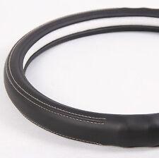 "NEW Black PVC Leather Steering Wheel Cover Chevy Pickup Truck 14""-15"" NON-SLIP"