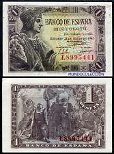 1 peseta año 1943 Fernando el Católico S/C Spain Pick 126a - UNC