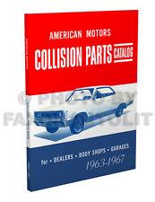 AMC Rambler Body Parts Book 1963 1964 1965 1966 1967 American Motors Catalog