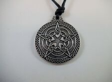 Wiccan Pentacle Pendant for Protection on Adjustable Cord Pagan Celtic Talisman