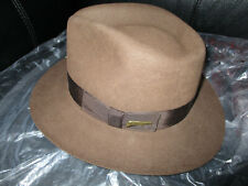 Indiana Jones Genuine Fur Felt Hat Size Medium NEW MADE IN THE USA!!