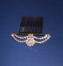 24 ct GOLD CLAD CRYSTAL COMB TIARA HEADPIECE, Handcrafted, BRAND NEW, Australia