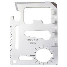 11 in 1 Multi Tool Stainless Steel Credit Card - Hunting Survival Knife Camping