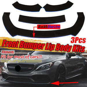 Front Bumper Lip Chin Splitter For Mercedes-Benz W205 W204 C-Class C200 C250 AMG