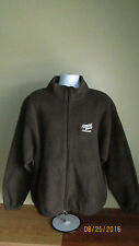 XL Port Authority Almond Breeze Chocolate Full Zip Mock Neck Brown Fleece Jacket