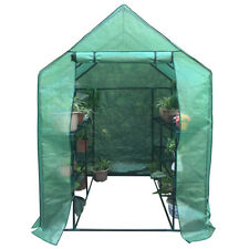 "Portable Outdoor Greenhouse with Walk-in 8 Rack Shelf - 57"" x 57"" x 77"" inches"