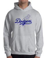 Los Angeles Dodgers gray hoodie SWEATSHIRT Graphic Cotton Adult Logo LA LAD