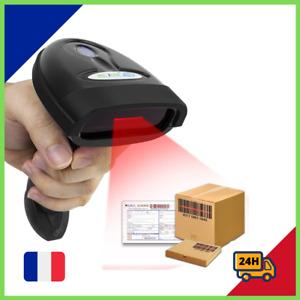 Douchette Scanner Lecteur Code Barre Sans Fil Compatible Windows 2.4G USB 2.0 FR