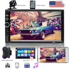 2 DIN Bluetooth Car Stereo Radio FM Player 7'' HD MP5 Touch Screen MP3 +  Camera