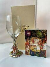 Kirks Folly Fairy Godmother Goblet Enamel Fairy Wine Glass w Orig Box & Card Nr