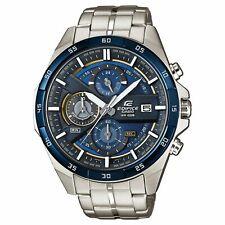 Casio Edifice Quartz Blue Silver Steel Chrono Mens Watch EFR-556DB-2A RRP £129