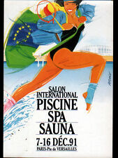 VERSAILLES (78) SALON INTERNATIONAL PISCINE SPA SAUNA en 1991
