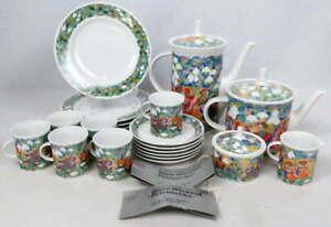 Rosenthal Studio-line Bjorn Wiinblad Petruschka China Tea Coffee Pot Cups Saucer