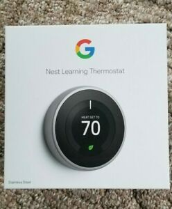 Google Nest Learning Thermostat T3007ES Stainless Steel