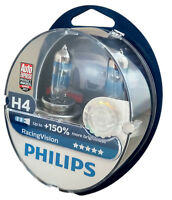 H4 PHILIPS Racing Vision +150% 12V 60/55W P43t  2st Box 12342RVS2
