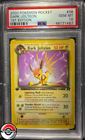 2000 Pokemon Team Rocket Dark Jolteon 1st Edition #38 PSA 10 Gem-Mint