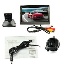 5'' Color TFT LCD Monitor Coche 5:3 Pantalla PAL / NTSC + Soporte Por Cámara DVD