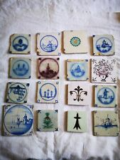 lot 16 Anciens carreaux céramique du XVIII / XIX siècle.