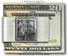 Bull Riding Rodeo Cowboy Money Clip Horses Bareback Bronc Pbr Nfr - Free Ship