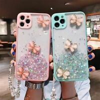 Bling Diamond Butterfly Case w/ Crystal Rope For iPhone 12 Pro Max 11 XS XR 8 7