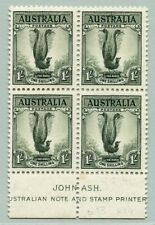 Australien Australia 1937 Lyrebird Block/4 148A Perf 13.5 x 14 SG 174 MNH/309