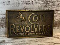 Vintage Belt Buckle Colt Revolvers Fire Arms Gun US Rifle Wild Handgun Wild West