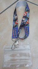 Captain America Lanyard / Neck Strap for Pin Trading inc. Waterproof Holder
