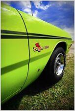 1971 Dodge Demon 340 Photo Art Print Poster 13x19  MOPAR SCAT PACK FJ6 GREEN GO