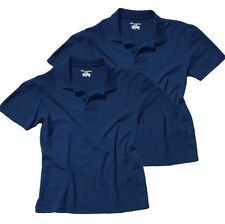 2 Pack Champion Big Mens Polo Shirts Navy Cotton XXL 2XL Classic Long Loose