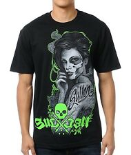 Sullen Collective Art Half Gone Black Green T-Shirt Zombie Girl Size XL New