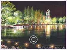 "WALSALL ILLUMINATIONS ARBORETUM ACRYLICS ARTISTS PRINT GREETINGS CARD 8""x 6"""
