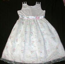 JELLYBEAN of Miami Little Girls Plus Size 14.5 White Sleeveless Holiday Dress