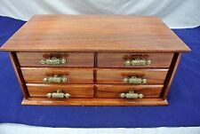 "VINTAGE WOOD JEWELRY BOX, HAS BEEN REFINISHED, 15"" X 8-1/4"""