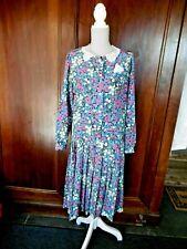 Robe Vintage avec motifs floraux VINCENT BASTIER avec col dentelle