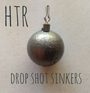 HTR Fishing Supplies 1/8 to 1/2 ounce Drop Shot Sinkers (side line clip)