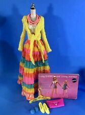 Vintage Barbie Mod Flying Colors #3492 Top, Skirt, Shoes, Booklet, Accessories