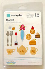 NEW Cute Tea Set Cake Flower Vase Cup Teapot Die ✿ For Cuttlebug Sizzix ✿ RARE ✿