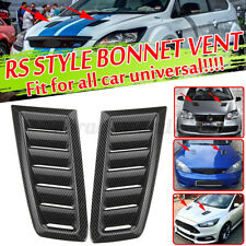 Universal Carbon Fiber Look Bonnet Hood Vent Air Vents Scoop Duct Louver