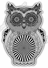 """Owl Illuminati Freemasonry Masons Masonic Car Bumper Vinyl Sticker Decal 3.5""""X5"""""""