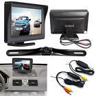 Wireless Car Rear View IR Night License Plate Backup Camera Kit 4.3
