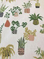 prestigious textiles pot plants fabric 100% cotton curtain blind upholstery