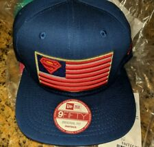 🇺🇸 Superman USA Flag Snapback * New Era * 9Fifty Adjustable Hat Cap DC Justice