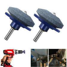 More details for 2pcs universal lawnmower blade sharpener grinding tool rotary power drills 50mm