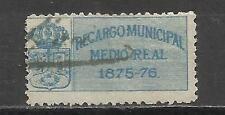 7114-SELLO LOCAL FISCAL CLASICO MADRID 1875 RARO,SPAIN CLASSIC STAMP.RARO