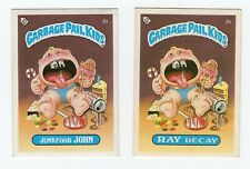 Junkfood John / Ray Decay 1985 Garbage Pail Kids (GPK) Mini Card #2a / 2b