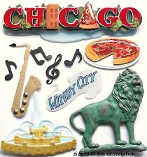EK SUCCESS JOLEE'S BOUTIQUE STICKERS - WINDY CITY PIZZA VACATION - CHICAGO