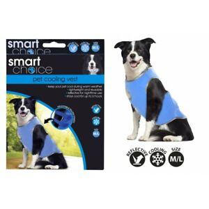 DOG REFLECTIVE COOLING VEST PET SELF COOL ADJUSTABLE WARM SUMMER S / M / L SIZES