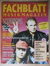 FACHBLATT MUSIK MAGAZIN 1993 # 11 - SCORPIONS BILLY SHEEHAN PAUL GILBERT